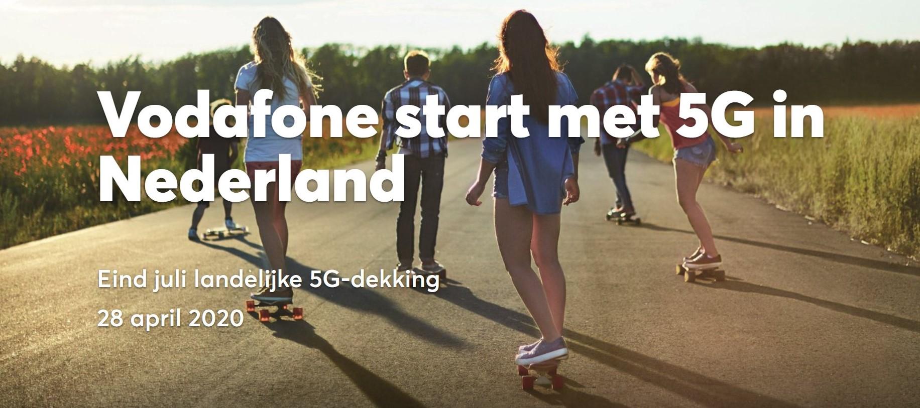 Vodafone start 5G netwerk in Nederland